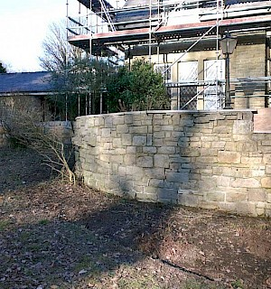 Stone wall after